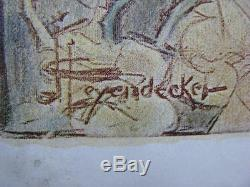 Rare 1898 Four O ' Clock Magazine Incliné Sur L'art Nouveau Couleur Plate Leyendecker