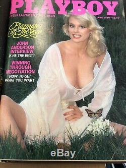 Rare Bo Derek Emission Playboy Magazines 1980 Binder Set (jan-juin) Great Condition