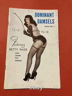 Rare Misselle Numéro 1 Dominant Damsels Numéro D'émission No. 1 Avec La Page Bettie
