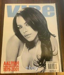 Rare Musique Pop Culture Vibe Magazine Aaliyah Tribute Novembre 2001 1ère Édition