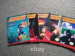 Rare Nintendo Power 1988 1ère Année 7 Edition Sub Complète Avec Des Affiches 1989 Fan Club