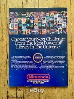 Rare! Nintendo Power Magazine 1 Premier Numéro 1988 Zelda Affiche Mario Insert Mint