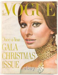 Richard Avedon Sophia Loren Irving Penn Matisse Us Vogue Magazine 1970 Décembre