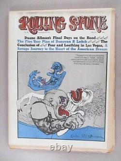 Rolling Stone #95&96 Novembre 11&25,1971 Fear & Loathing À Las Vegas 1er Ed