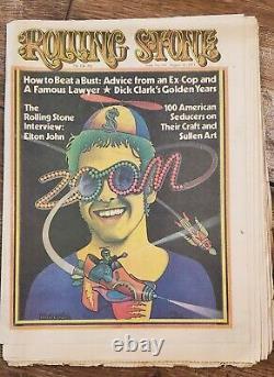Rolling Stone Magazine Lot 35 Numéros 1970-73 Peur - Loathing Ralph Steadman