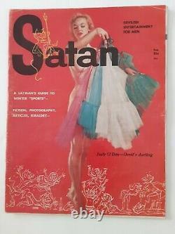 Satan Magazine Numéro 1 Premier Numéro Février 1957 Fine Condition Concurrence Playboy