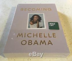 Signé Obama Michelle Devenir Deluxe Coffret Us Edition Nouveau Signée Scellé