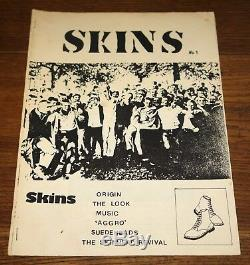 Skins Numéro 1 Uk Skinhead Oi! Punk Zine 1979 Dernier Recours Sham Slade Suedeheads