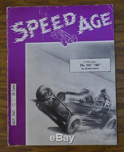 Speed age N ° 1 1947 Auto Racing Magazine Indy 500 Voiture D'attache De Moto De Daytona