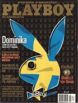 Suede Playboy Vol 1 No 1 # 1 1er Magazine Numéro Premier Étranger Complet Vg-f Rare