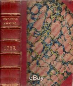 Sylvanus Urban / Magazine Et Historique Chronique 1er The Gentleman Ed 1753
