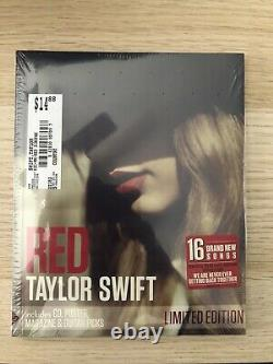 Taylor Swift Red Exclusive 16 Track Cd, 96 Pg. Magazine, Poster & Picks Sealed