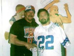 Terry Funk A Signé Vintage Historical Wrestling Document #2 Avec Coa Bonus