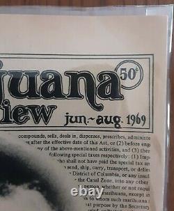 The Marijuana Review Vol 1 No. 2 Juin -août 1969 Timothy Leary Lsd Woodstock