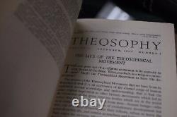 Theosophy Magazine Hardcover 8 Volume Set-1962-70 Occult, Blavatsky