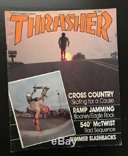 Thrasher Magazine Lot 1984 Zine 11 Questions Skateboard Vg