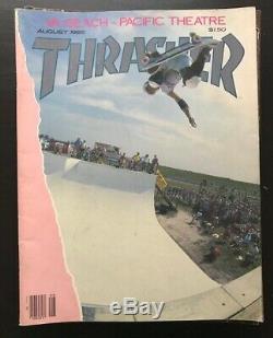 Thrasher Magazine Lot 1985 Skateboard 10 Questions Vg + -ex Faucon