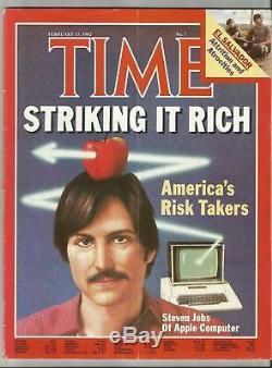 Time 15 Février Magazine, 1982 Steven Jobs D'apple Computer Livraison Gratuite