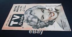 Tres Rare Janvier 1953 Guide Tv Belle Marilyn Monroe Couverture! Très Agréable