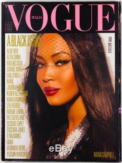Une Question Noire Naomi Campbell Pat Cleveland Iman Magazine Vogue Italia Juillet 2008