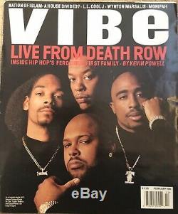 Vibe Magazine Février 1996 En Direct De Couloir De La Mort Rare
