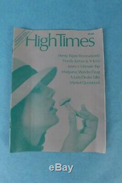 Vintage 1974 High Times Magazine Première Numéro 1 Couvre-champignon Ex-condition