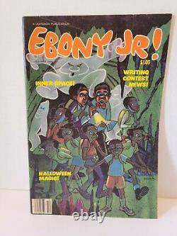 Vintage 1980's Era Ebony Jr. Magazines Lot De 7 Jackson Halloween Noël