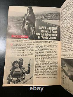 Vintage Jet Magazine Tupac Janet Jackson Juillet 19, 1993 Likenew Rare