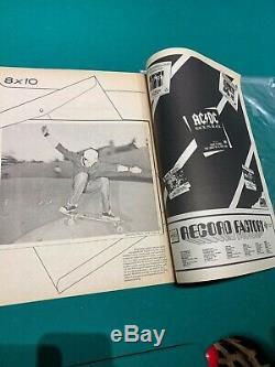 Vintage Magazine Thrasher Skateboard 1981 Large Print 1er Problème Forme Solide Rare