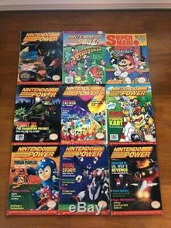 Vintage Nintendo Power Magazine 15 Affiches Lot Questions De Fer Sur Les Cartes 90s 80s Rare