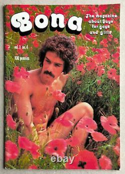 Vintage Uk Bona Magazine #4 1975 Mega Rare! Intérêt Des Gays