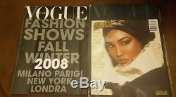 Vogue Italia Juillet 2008 Black Issue 2008 Automne Hiver Défilé De Mode Magazine