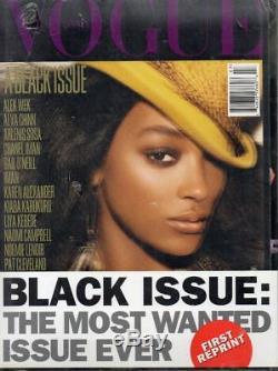 Vogue Italia Un Numéro Noir Jourdan Dunn # 695 2008 Édition Originale