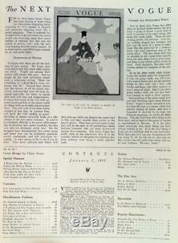 Vogue Magazine Lingerie Numéro 1 Janvier 1917 Art Couverture Par Claire Avery Fashion
