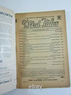 Weird Tales, Mai 1935 Vg Robert E. Howard Conan Beyond The Black River