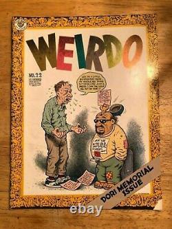 Weirdo Magazine Lot Près De L'ensemble Complet Robert Crumb Dernier Gaz Sous Comix