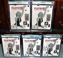World's Best Cgc #1 Playboy Collection 4 Hefner Signé & Authentifié + 10.0