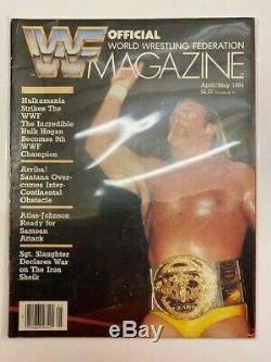 Wwf Magazine Avril Mai 1984 World Wrestling Federation Hulk Hogan Nwa 1 Er Numéro